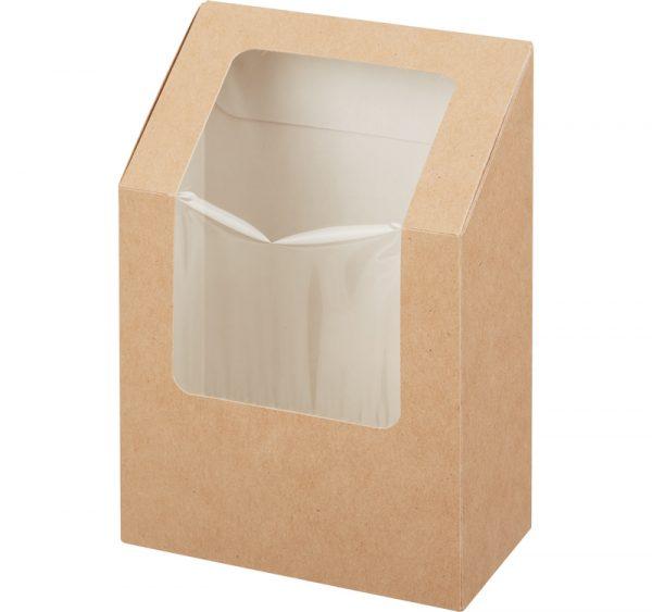 Posoda za wrap/tortilje s folijom 90x50x130 mm kraft (25 kom/pak)