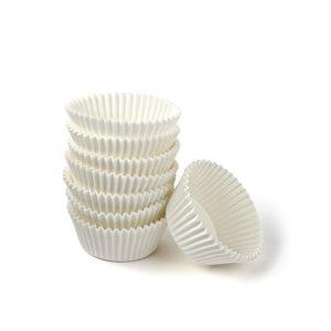 Korpice papirnate okrugle d=50mm, h=25mm, bijeli (1000 kom/pak)
