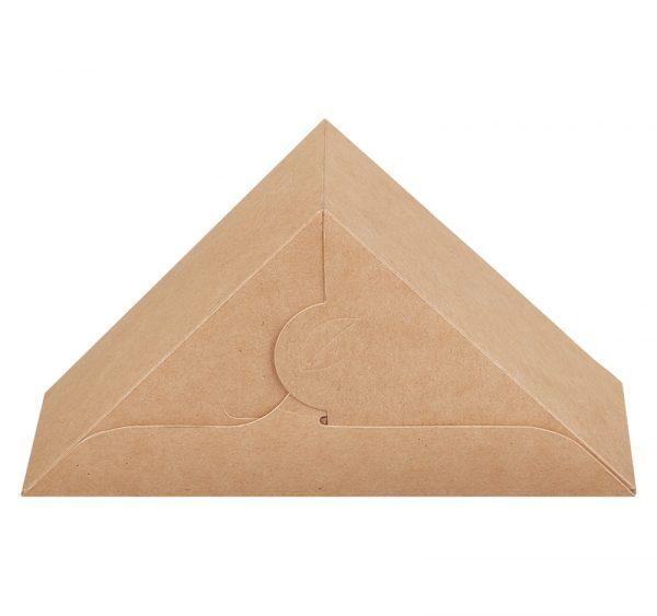 Posuda papirnata za sendvič ECO SANDWICH 70 130x130x70 mm sa prozorom, Kraft (50 kom/pak)