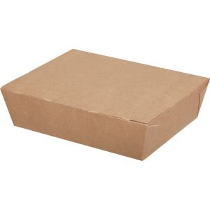 Papirnata posuda ECO LUNCH BOX 1000 ml 190x150x50 mm kraft (200 kom/pak)