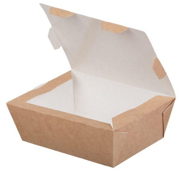Papirnata posuda ECO LUNCH BOX 600 ml 150x115x50 mm kraft (500 kom/pak)