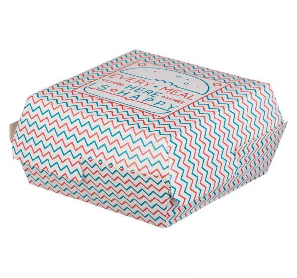 Kutija za hamburger 120х120х70 mm Happy Life (50 kom/pak)