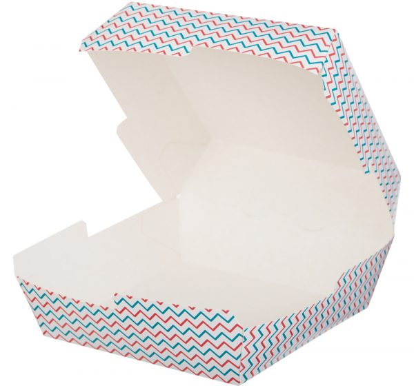 Kutija za hamburger Happy Life 120х120х70mm (50 kom/pak)