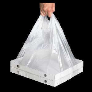 Vrećka tregerice LDPE 32+24х60 prozirna 14 μm za kutiju za picu (100 kom/pak)