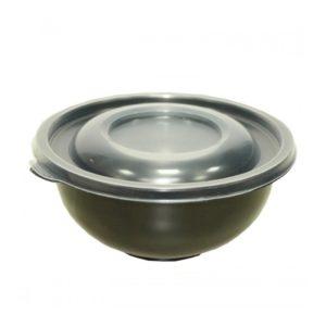 Posuda РР za juhu 450 ml PK-58 crna s poklopcem, 480 kom (komplet)