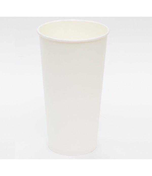 Čaša papirnata 500 ml d=90 mm 1-slojna bijela (50 kom/pak)