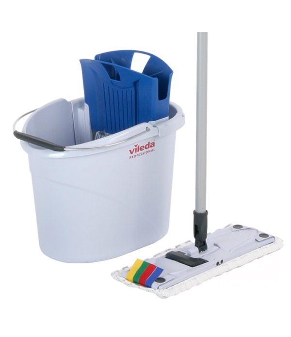 "Set za pranje podova ""Vileda"" UltraSpeed Mini (kanta 10L sa cediljkom/Drška za brisač poda za mokro brisanje 34cm/Brisač poda MicroLight Mini/Dršk"