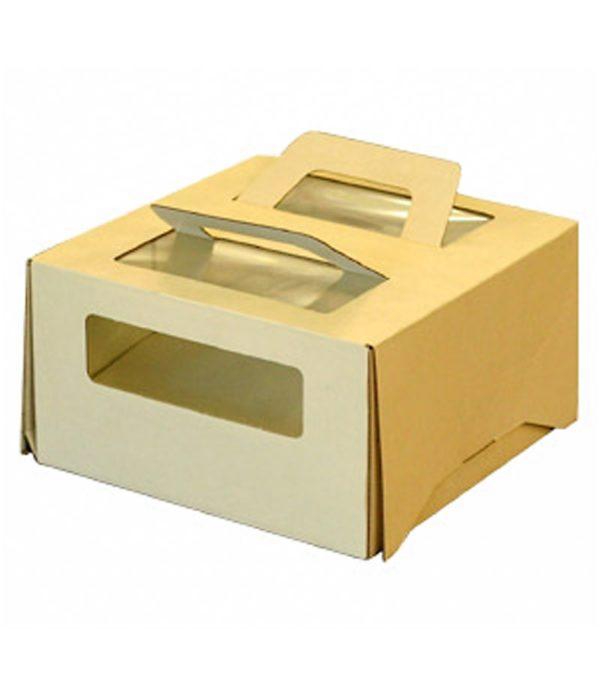 Kutija za tortu sa ručkom 210х210х110 s prozorom za 1kg (20 kom/pak)