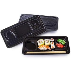 Posuda PS za sushi КD-001 275х121х43mm crna (400 kom/pak)