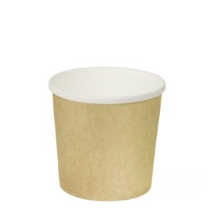 Papirnata posuda za juhu 300 ml d=90mm h=85mm kraft (50 kom/pak)