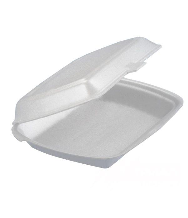 Kutija za ručak preklopna LUNCH BOX EPS 1 odeljak 249х207х61mm LBE-1 (100 kom. u pakovanju)