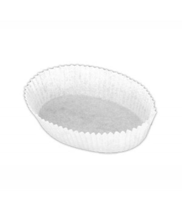Papirni kalupi oval 30х80mm, h=25mm bijeli (2000 kom/pak)
