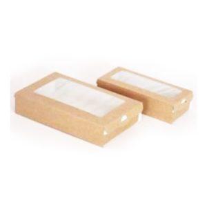 Posuda papirnata — kutija s prozorom ECO CASE 500 170х70х40 mm 500 ml, kraft (400 kom/pak)
