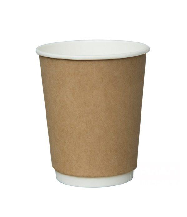 Čaša papirnata 250 ml d=80mm 2-slojna, kraft (25 kom/pak)