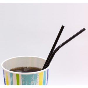 Slamke zglobne plastični l=240mm d=5 mm crne 1000kom/pak