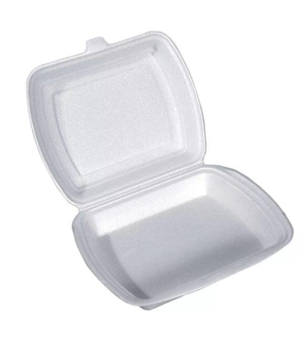 Kutija za ručak preklopna LUNCH BOX EPS 1 odeljak 250х210х35mm (100 kom/pak)