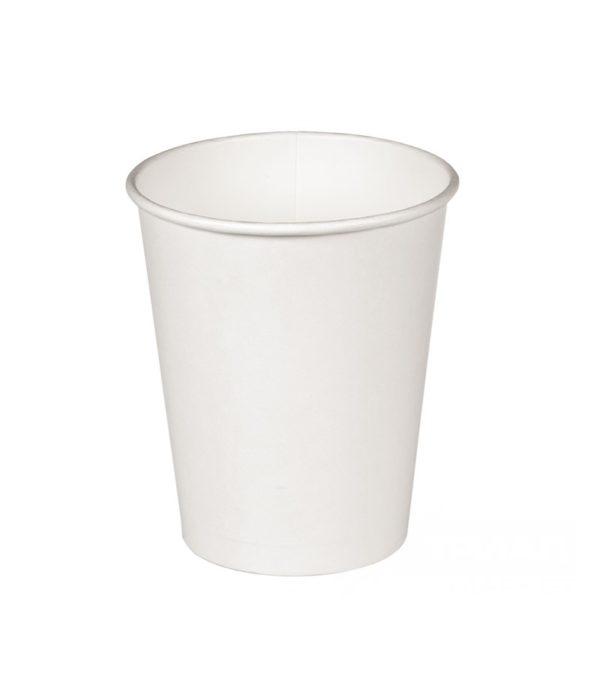 Čaša papirnata jednoslojna 300 ml d=90mm za topla pića bijela (50 kom/pak)