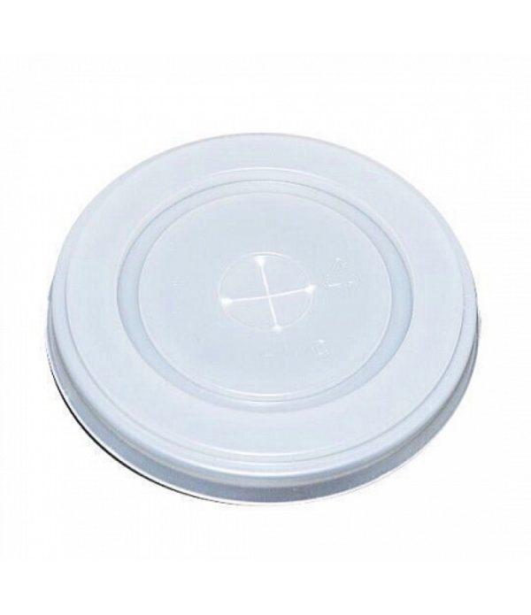 Ravan poklopac s rupom za slamčicu d=80 mm (100 kom/pak)