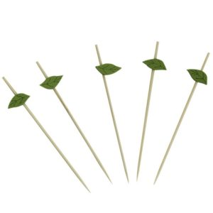 Drvena pikalica 12 cm Zeleni list 100 kom/pak