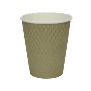 Čaša papirnata 310 ml d=90 mm 3-slojna valovita cigla kraft (25 kom/pak)