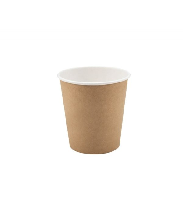 Čaša 250 ml papirnata d=80 mm 1 slojna KRAFT za topla pića (50 kom/pak)