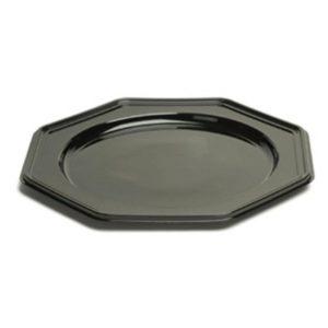 Poslužaonik Sabert d=30cm osmerougaoni crni (10 kom/pak)