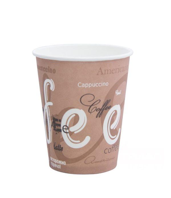 Čaša papirnata 250 ml d=80mm 1-slojna Coffee (50 kom/pak)