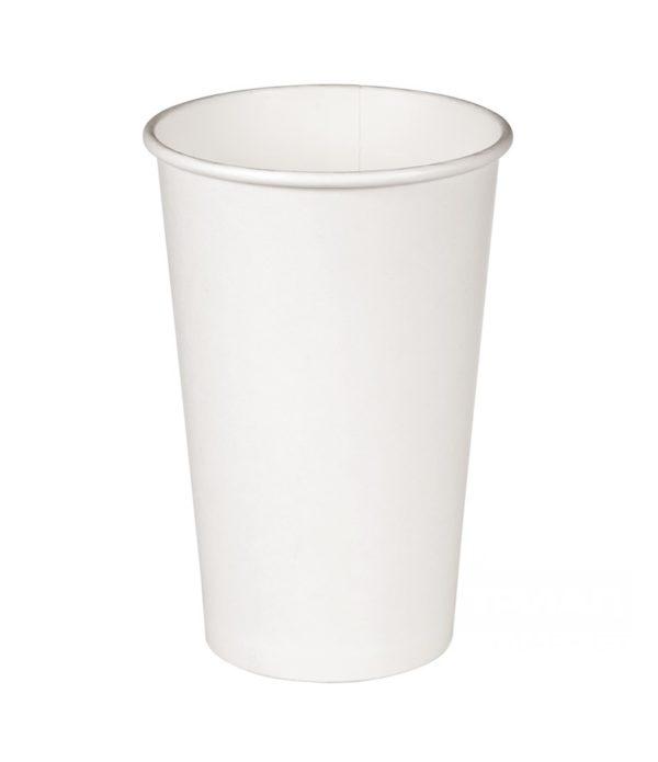 Čaša 400 ml papirnata d=90mm bijela za topla pića (50 kom/pak)