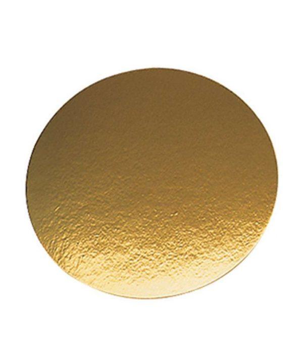 Podmetač za torte karton d=240mm zlato (50 kom/pak)