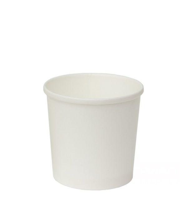Papirnata posuda za juhu 300 ml d=90 mm h=85 mm bijela (100 kom/pak)