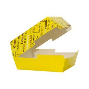 Kutija za hamburger 118х117х71 mm Fiesta žuta (50 kom/pak)
