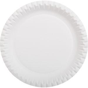 Papirnati tanjur d=230 mm bjeli, glaziran (100 kom/pak)