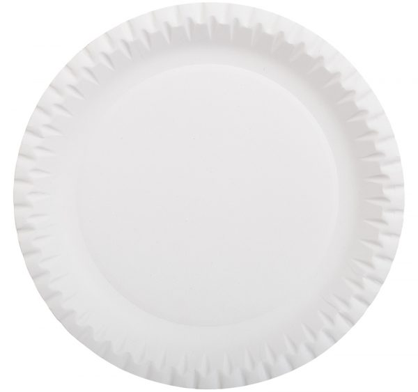 Tanjur d=230mm bjeli valoviti, glaziran (100 kom/pak)
