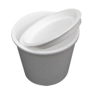 Čaša sa poklopcem stiropor 500 ml d=110 мм h=91,6 mm bijela (440 kom/pak)