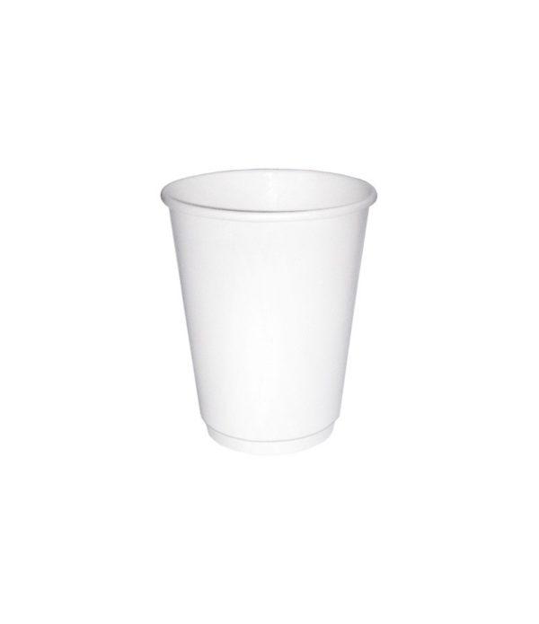 Čaša papirnata 300 ml s dvoslojna, d=90 mm bijela (20 kom/pak)