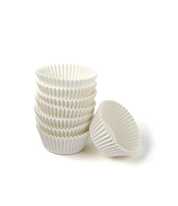Minjoni Papirnate korpice za pecivo, okrugle, bjela d=30mm h=18mm (2000 kom/pak)