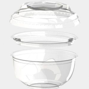 Poklopac za zdjelu providan d-110mm, 220 ml BOPS (1000 kom/pak)