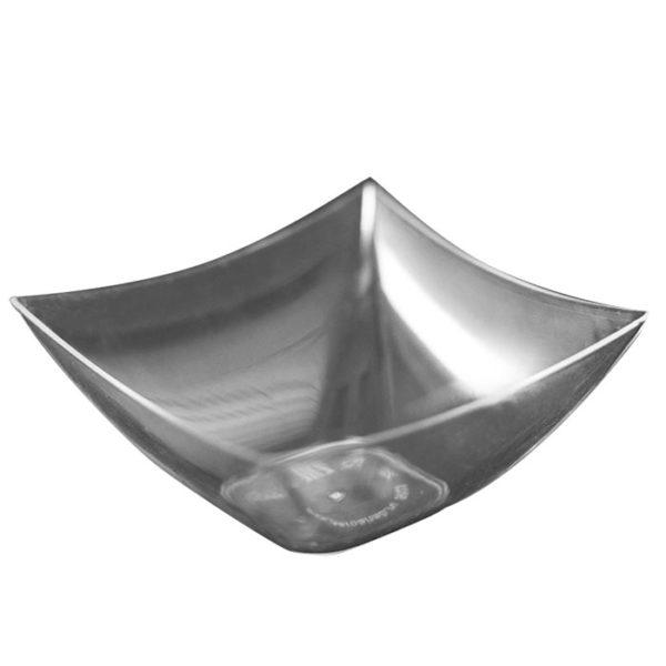 Fingerfood posudica PS 90 ml 70×70 mm Kvadrat prozirna (25 kom/pak)
