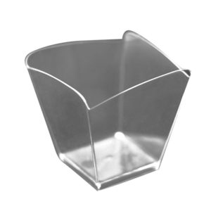 Fingerfood posudica PS 95 ml 57×57 mm Val prozirna (25 kom/pak)
