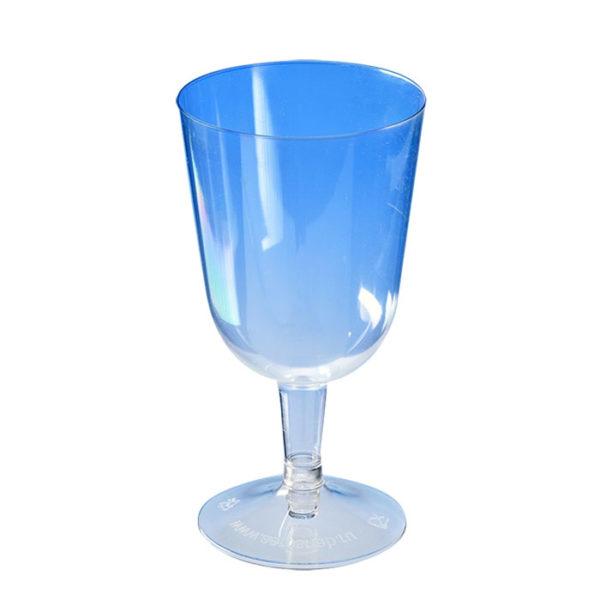 Čaša za vino 200 ml, prozirna (crna osnova) PS (324 kom/pak)