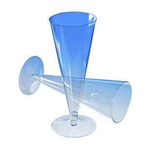 Čaša za šampanjac PS 150 ml prozirna (390 kom/pak)