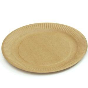 Papirnati tanjur d=230 mm kraft obostrano (100 kom/pak)