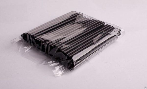 Slamke plastični l=210 mm d=8 mm crne 250 kom/pak