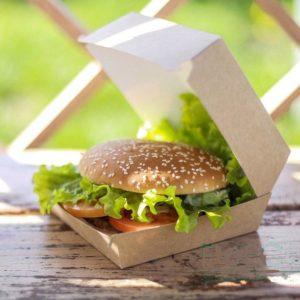 Kutija za hamburger ECO BURGER L 120х120х70 mm kraft (150 kom/pak)