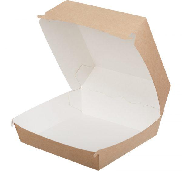 Kutija za hamburger ECO BURGER L 140х140х70 mm kraft (150 kom/pak)