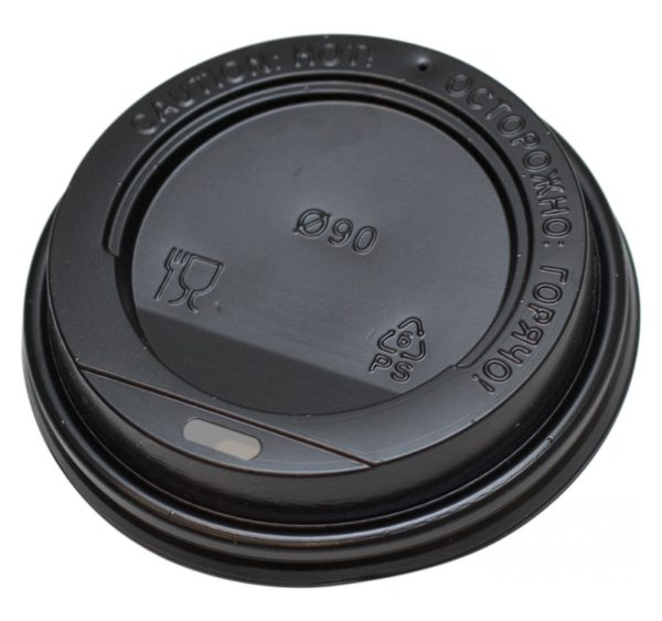 Poklopac PS s bočnim otvorom d=90mm crni (100 kom/pak)