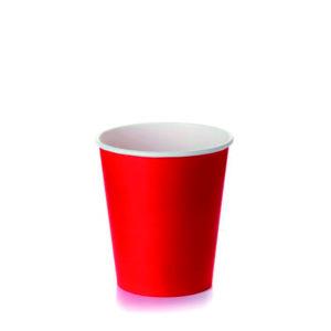 Papirnat kozarec 250 (273) ml za tople napitke, d=80 mm rdeč