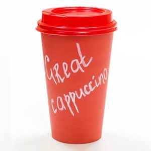 Čaša papirnata 400 ml d=90 mm 1-slojna crvena (50 kom/pak)