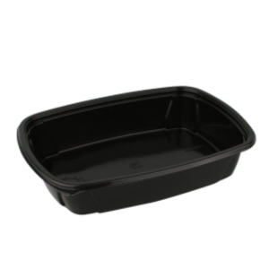Posodica 230x170x50mm 1000 ml, črna PP