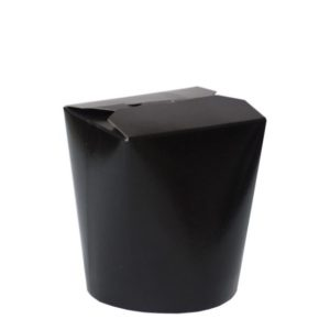 Papirnata posodica PKR 103х84х97,5mm 500ml, okroglo dno, črna